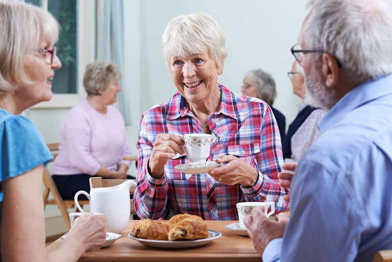 senior health and wellbeing depends on social interaction
